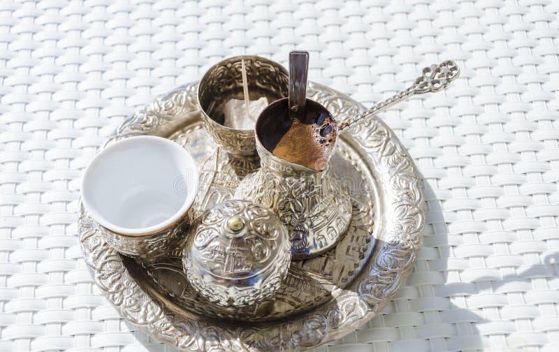 Bosnische koffie stock afbeelding
