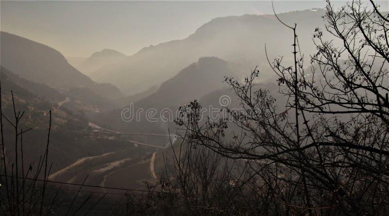 Bosniska berg arkivbild