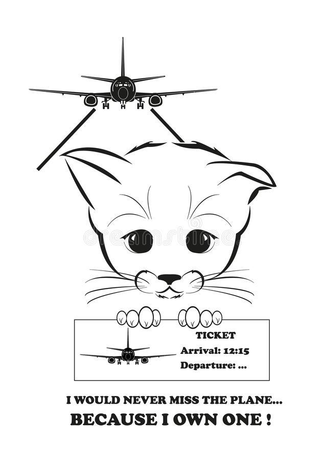 Boso would never miss the his plane vector illustration