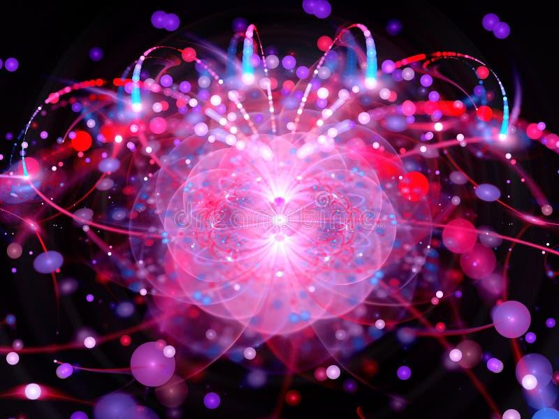 Boson de Higgs dans le grand collider de hadron illustration stock