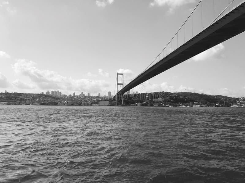 bosphore noir et blanc photographie stock