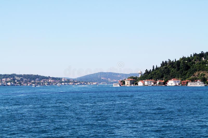 on the Bosphorus royalty free stock photo