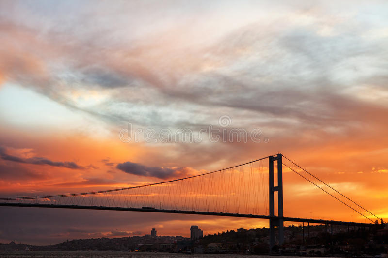 Download The Bosphorus Bridge Connects Europe And Asia Stock Image - Image: 24869779