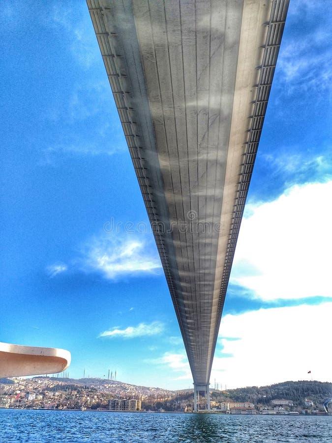 The bosphorus Bridge in Istanbul royalty free stock photography
