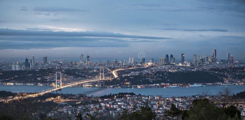 Download Bosphorus And Bridge At Night, Istanbul Stock Photo - Image: 28752606