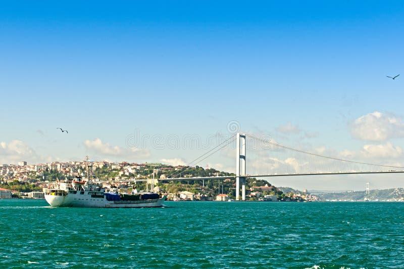 Download Bosphorus Bridge And A Ship Royalty Free Stock Image - Image: 14156116