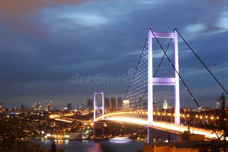Bosphorus bro royaltyfria foton