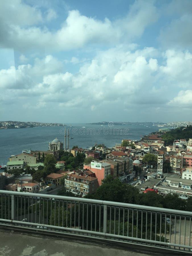 Bosphorus cieśnina, widok od mostu obrazy stock