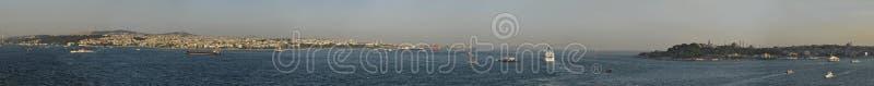 Bosphorus Dardanelles panorama più grande di sempre immagine stock libera da diritti