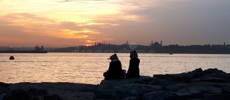 Bosphorus i meczety zdjęcia stock