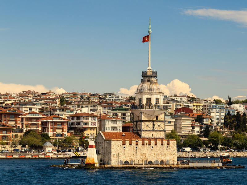 Bosphorus-Leuchtturm in Istanbul, die Türkei stockfotos