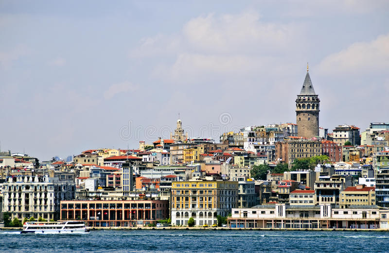 Bosphorus Shoreline, Istanbul Stock Photos