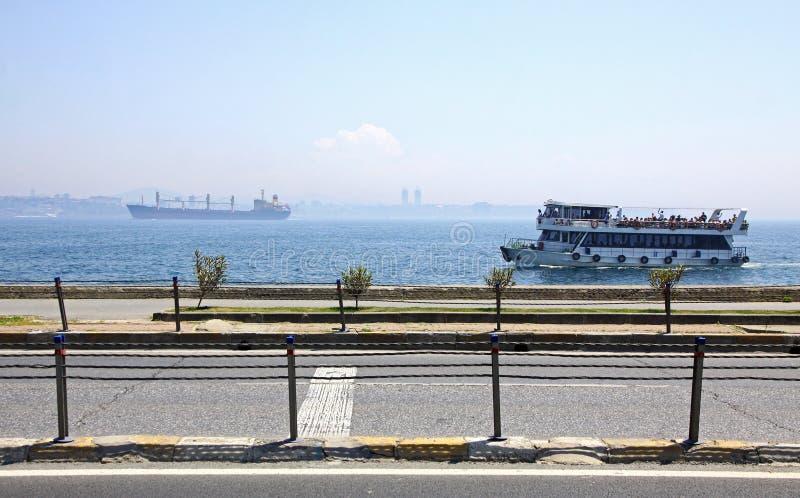 Bosphorus Straße in Istanbul lizenzfreies stockbild