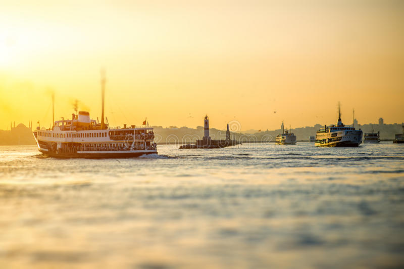 Bosphorus Straße in Istanbul stockbild