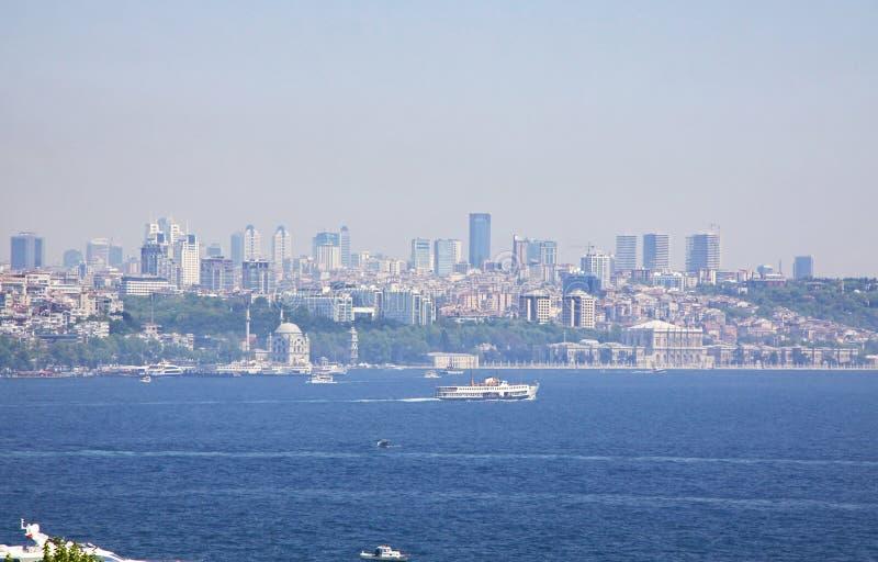 Bosphorus Straße in Istanbul, Truthahn lizenzfreies stockfoto