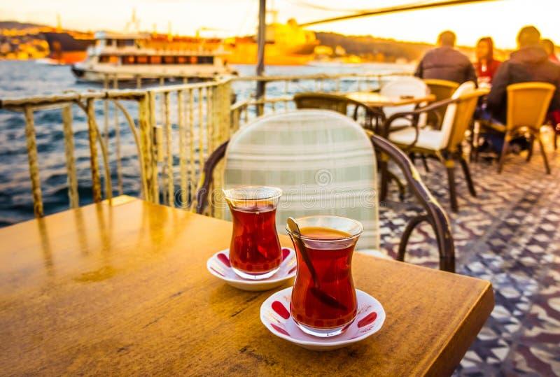 Bosphorus tea royalty free stock photos