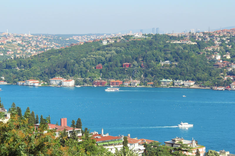 Bosphorus view, Istanbul, Turkey royalty free stock image