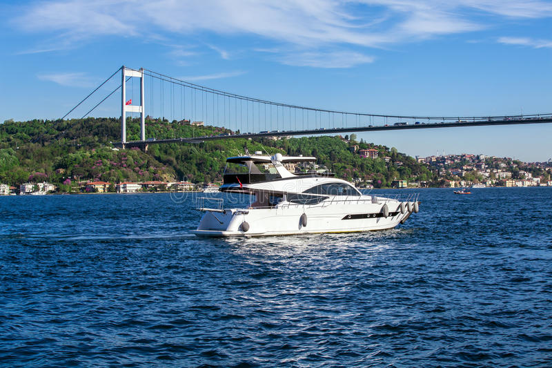 Bosphorus yacht trip royalty free stock photos