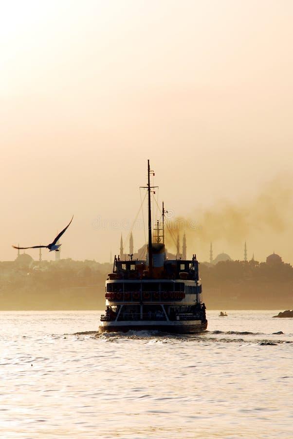 Bosphoruszonsondergang royalty-vrije stock foto