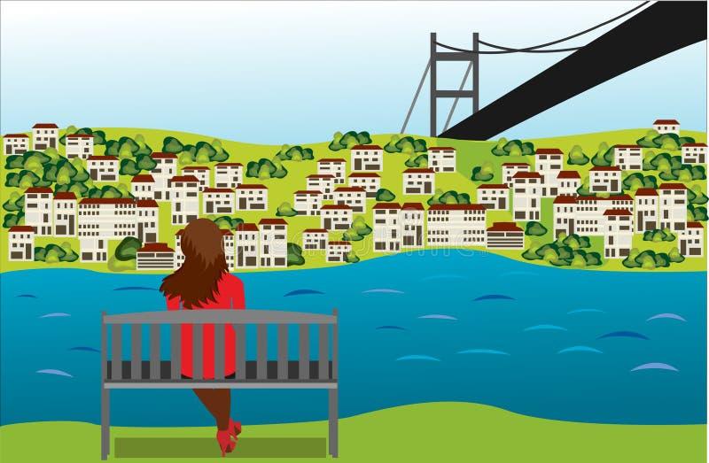 bosporus royalty ilustracja