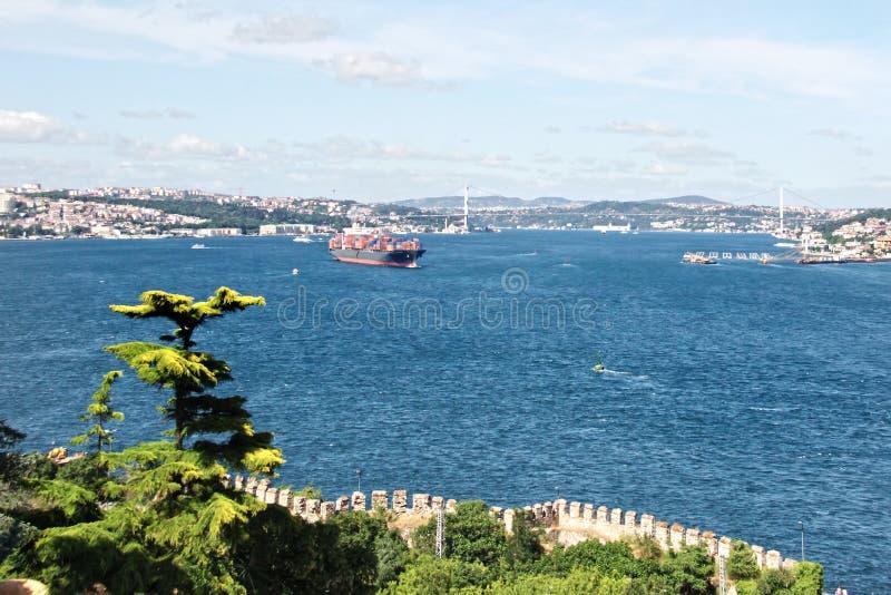 Bosporus, Istanbul lizenzfreie stockbilder