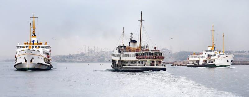 Bosporus, Istanbul, die Türkei stockfotos