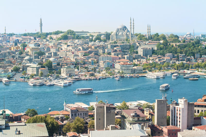 Bosporus und Instanbul stockfoto