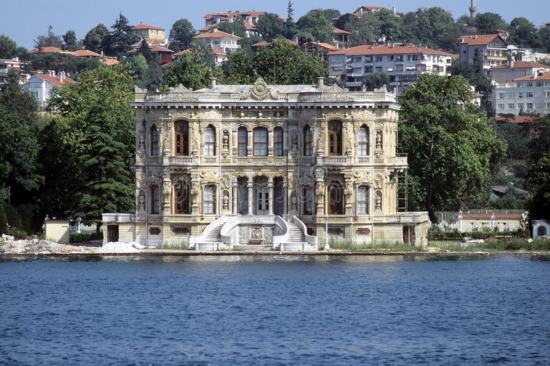 Bosporus-Palast stockfotografie