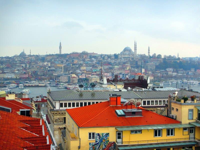 Bosporus-Straße und Istanbul, die Türkei lizenzfreie stockfotografie
