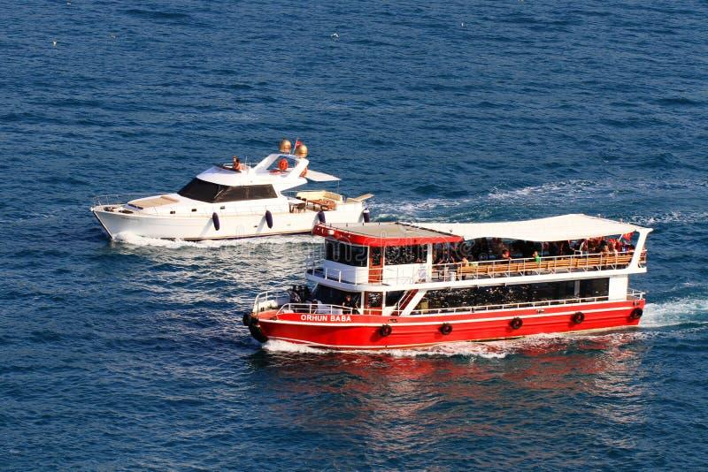 Bosporus Tour boat royalty free stock photos