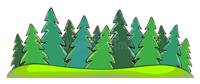 Bosque ilustración del vector