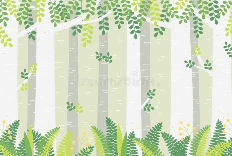 Bosque agradable stock de ilustración