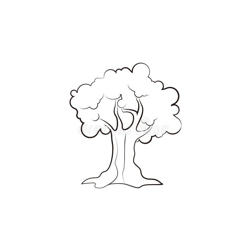 Bosque, azeitona, ícone da folha Elemento do ícone do óleo para apps móveis do conceito e da Web Entregue o bosque tirado, azeito ilustração do vetor