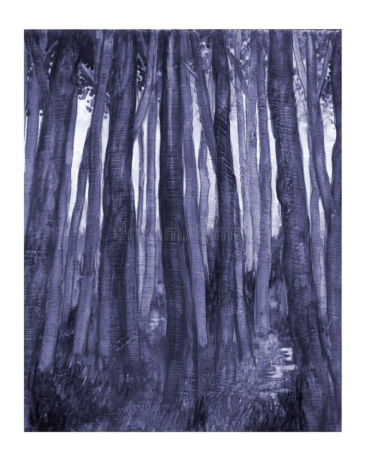 Bosque azul stock de ilustración
