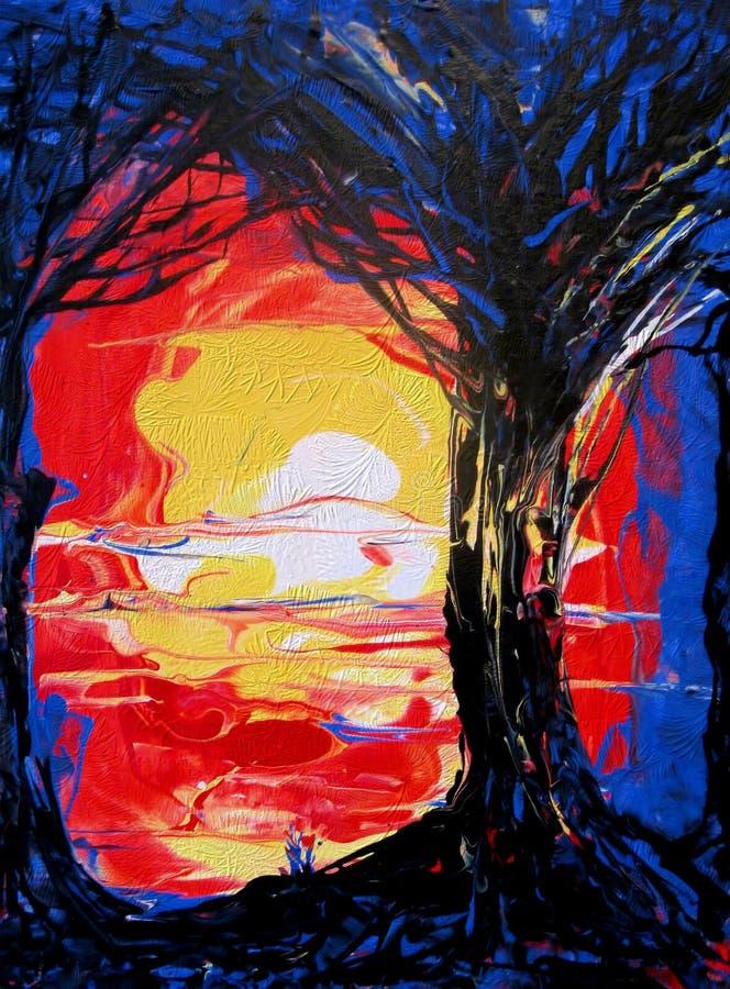 Bosque azul ilustración del vector