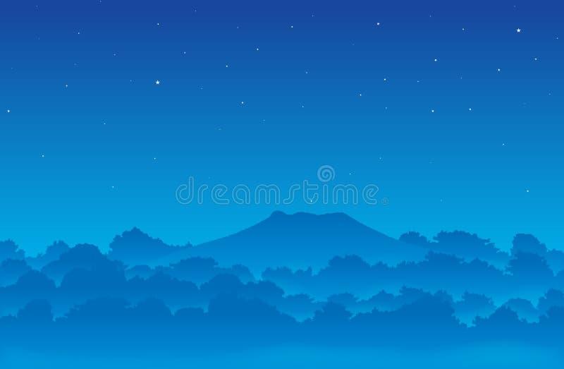 Bosque brumoso stock de ilustración