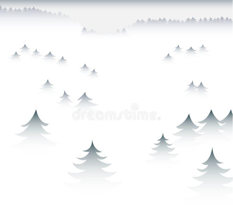 Bosque brumoso ilustración del vector