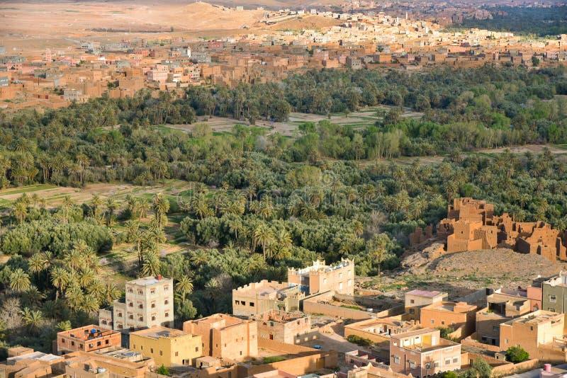 Bosque da palma de Tineghir, Marrocos fotografia de stock royalty free