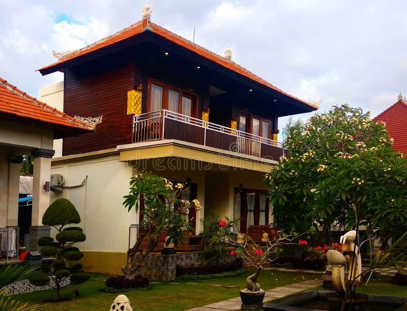 Bosque de Bali del chalet de la casa fotos de archivo