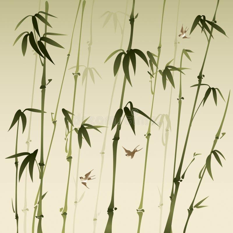 Bosque de bambú libre illustration