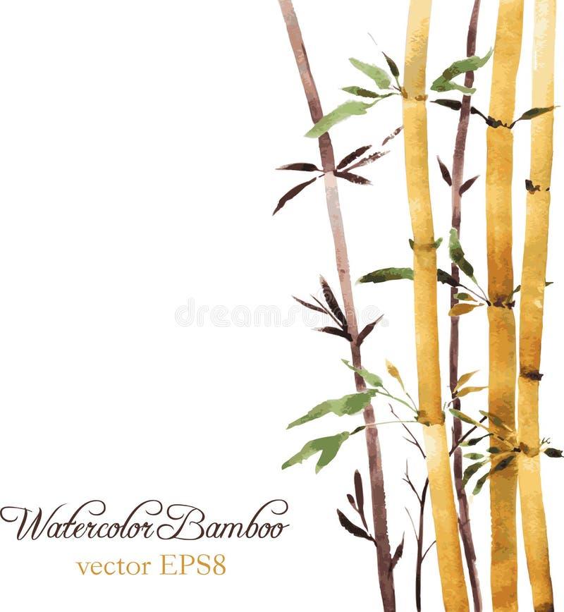 Bosque de bambu ilustração stock