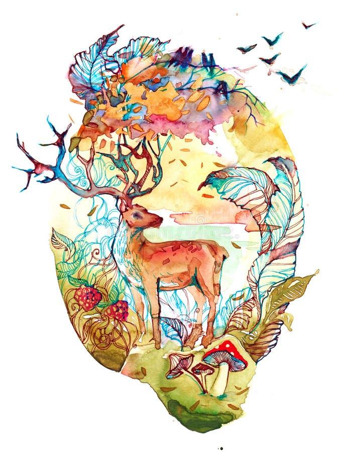 Bosque de hadas ilustración del vector