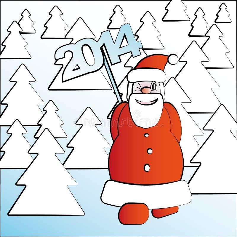 Bosque de la picea de Santa Claus que camina 2014 libre illustration