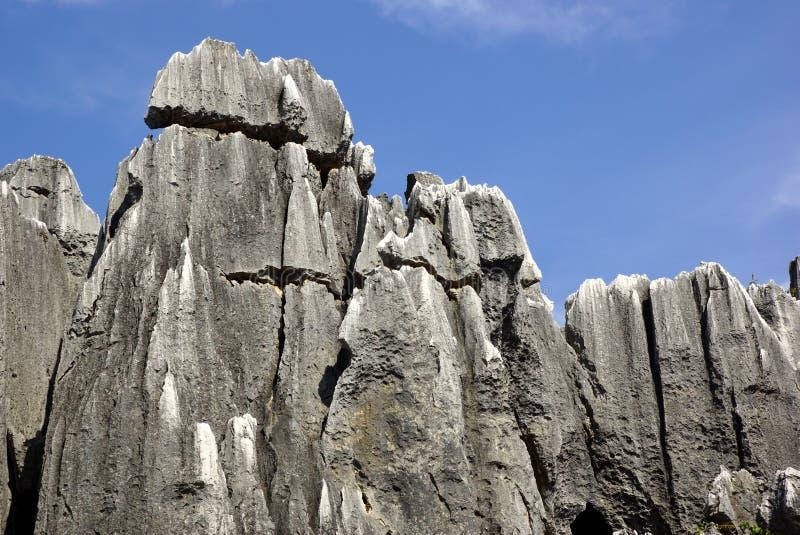 Bosque de la piedra de Shilin en Kunming, Yunnan, China fotografía de archivo libre de regalías