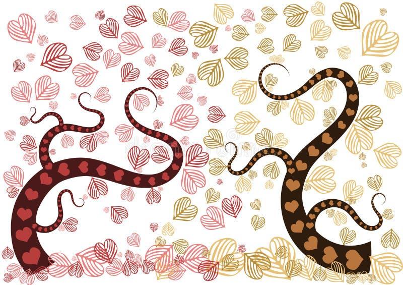 Bosque del amor ilustración del vector
