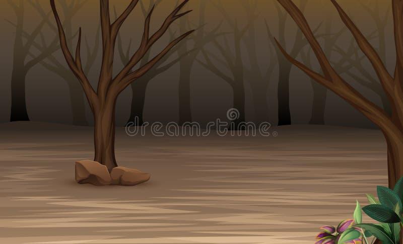 Bosque del misterio de Halloween brumoso libre illustration