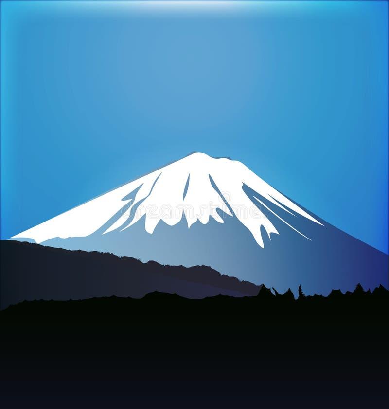 Bosque del monte Fuji y de Aokigahara ilustración del vector