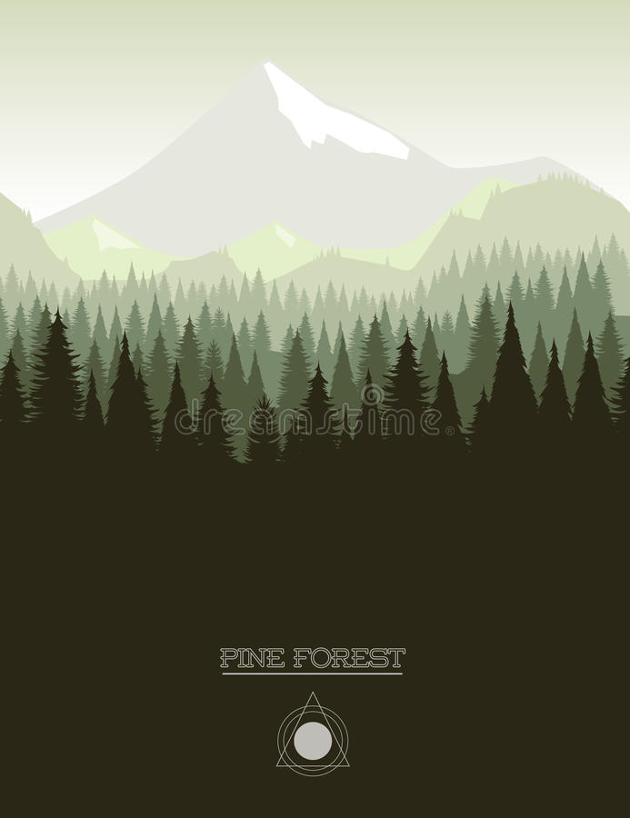 bosque del pino libre illustration