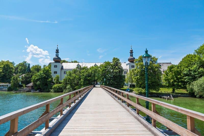 Bosque e institución educativa de la gestión de madera, Gmunden foto de archivo libre de regalías