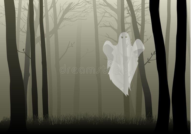 Bosque espeluznante stock de ilustración